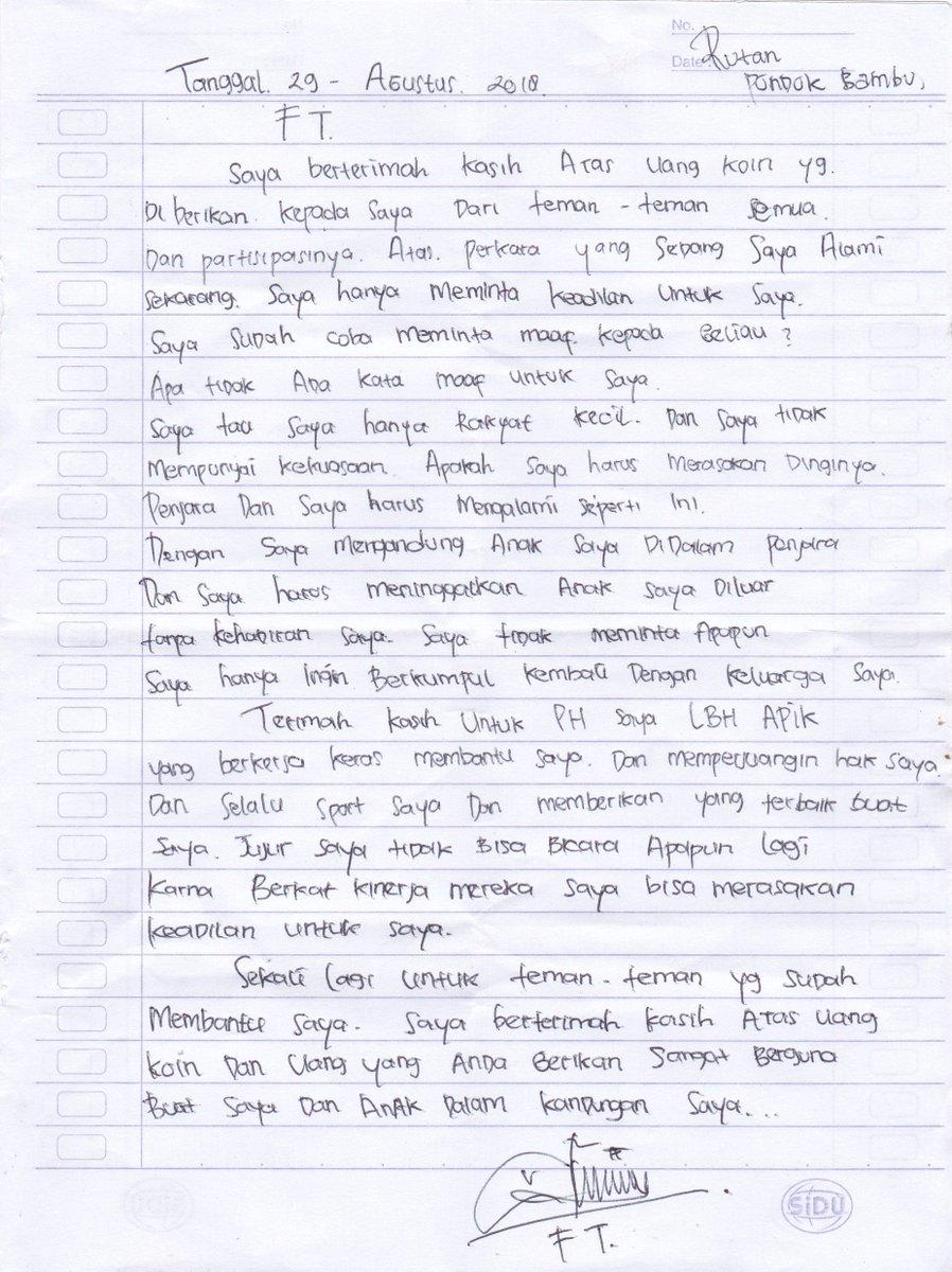 Lbh Apik Jakarta On Twitter Surat Cinta Dari Ft Seorang