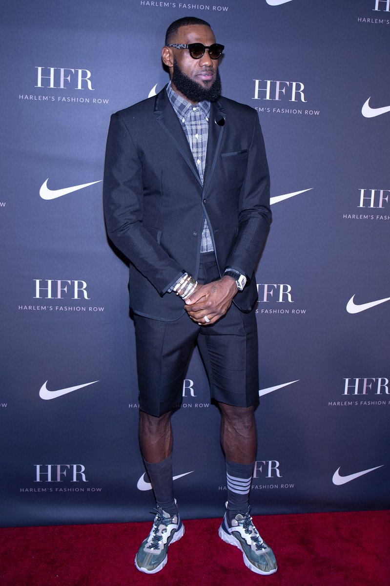 1423cf8d30b84 KingJames wearing the UNDERCOVER x Nike React Element 87 at Harlem s  Fashion Row…