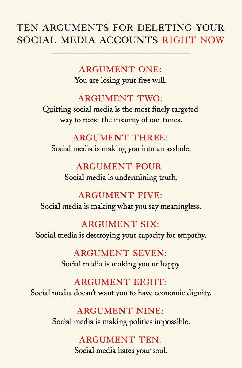 """Claire Underwood on Twitter: """"La 4ème de couverture du livre de de Jaron Lanier """"Ten Arguments for Deleting Your Social Media Accounts #RightNow"""" Via @martelf… https://t.co/a6hKvDb54t"""""""