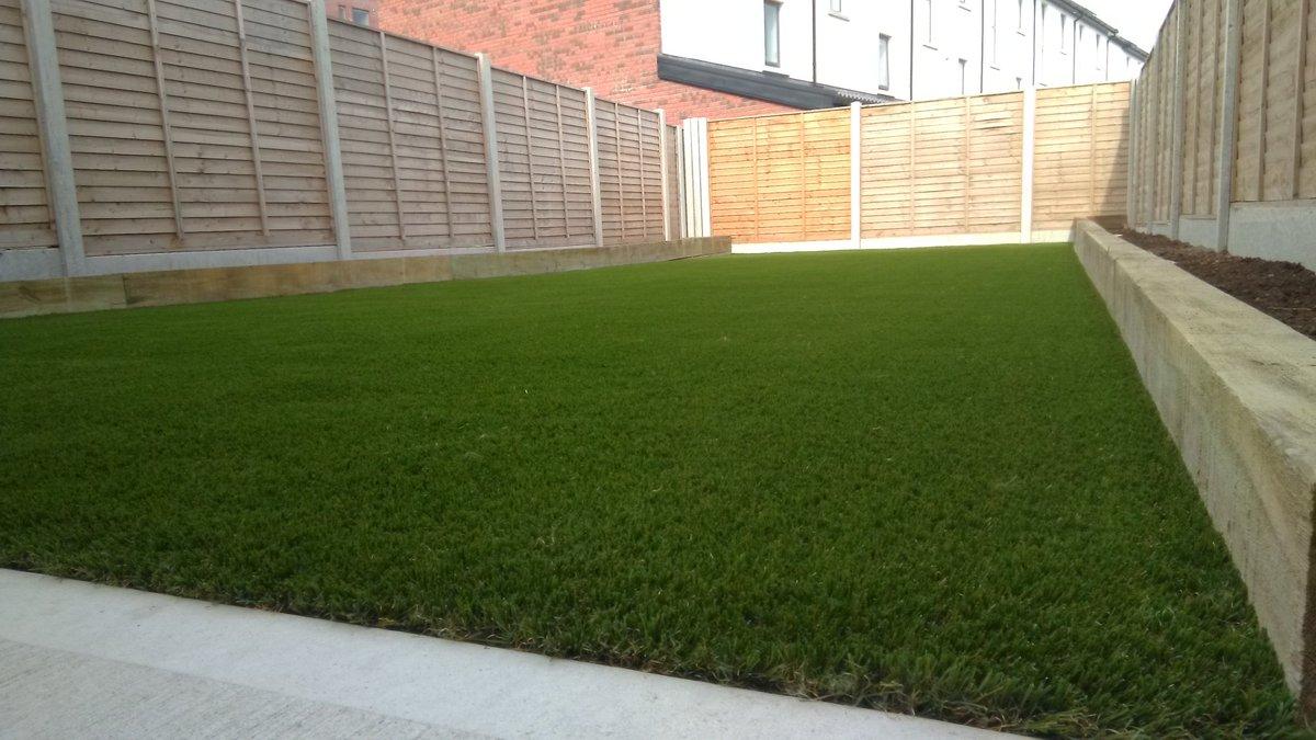 A recent completed garden in belltree, clongriffen. Royal grass silk  35mm artificial grass, raised beds and low maintenance shrubs. #newbuild  #dublin  #ireland  #garden      http://www.dublinartificialgrass.ie