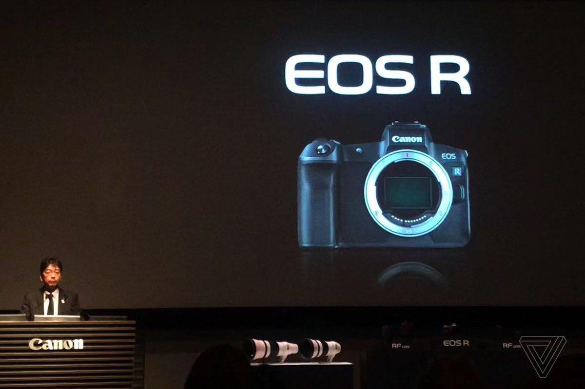 Canon announces EOS R full-frame mirrorless camera