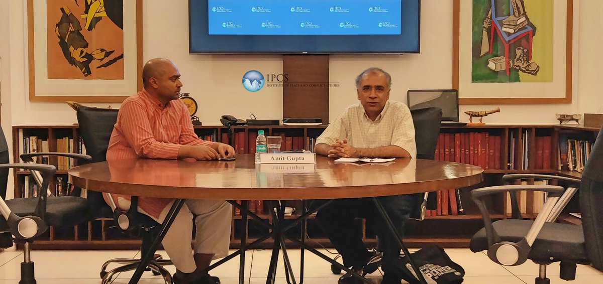 On 4 Sept, #IPCS hosted Dr Amit Gupta, Associate Professor, Department of Strategy & International Security Studies, USAF @AirWarCollege for a talk on the Indo-Pacific, Quad, & India-US 2+2 dialogue from both the Indian and American security-strategic perspectives.