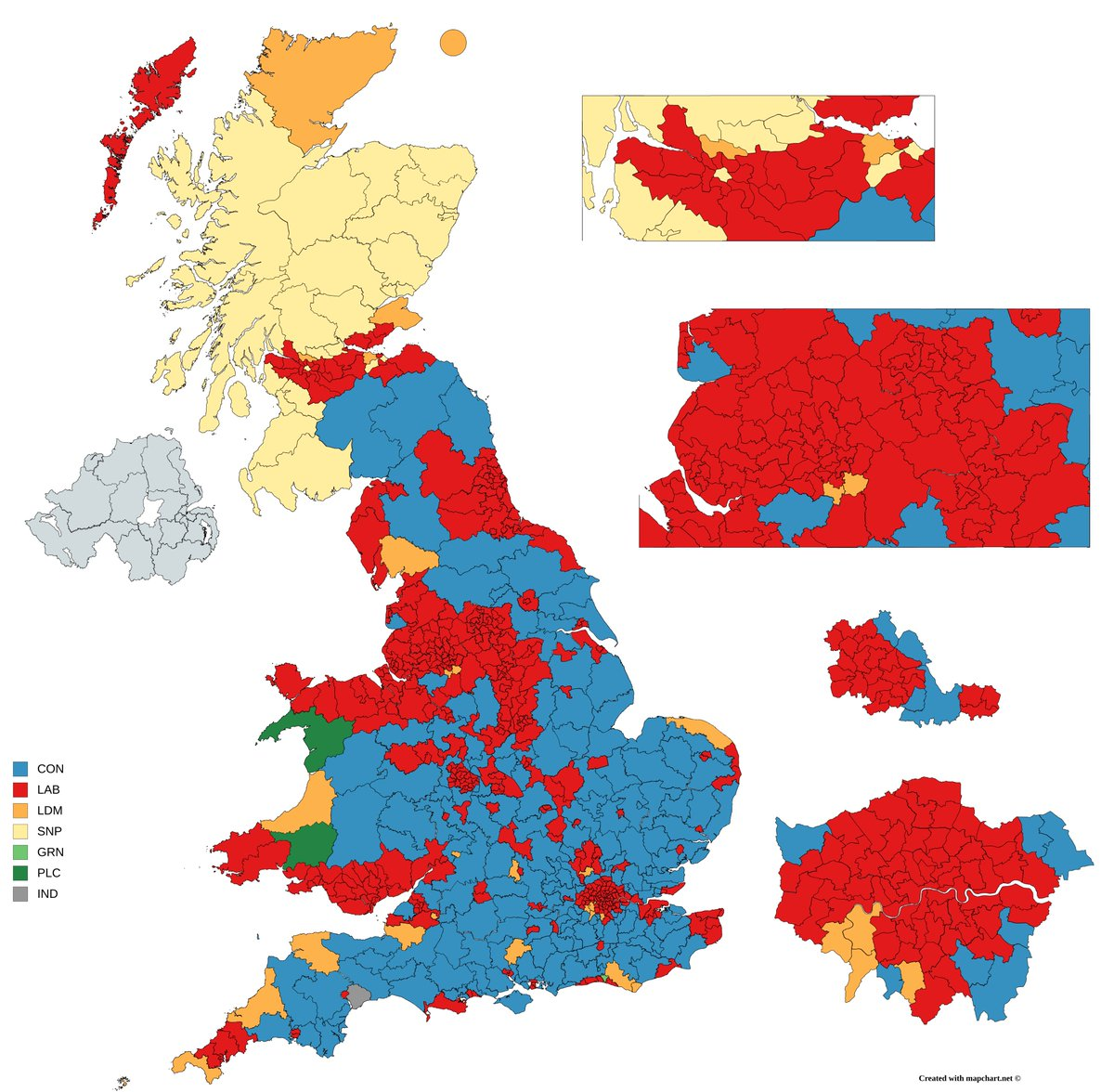 Uk Vote Map Election Maps UK on Twitter: