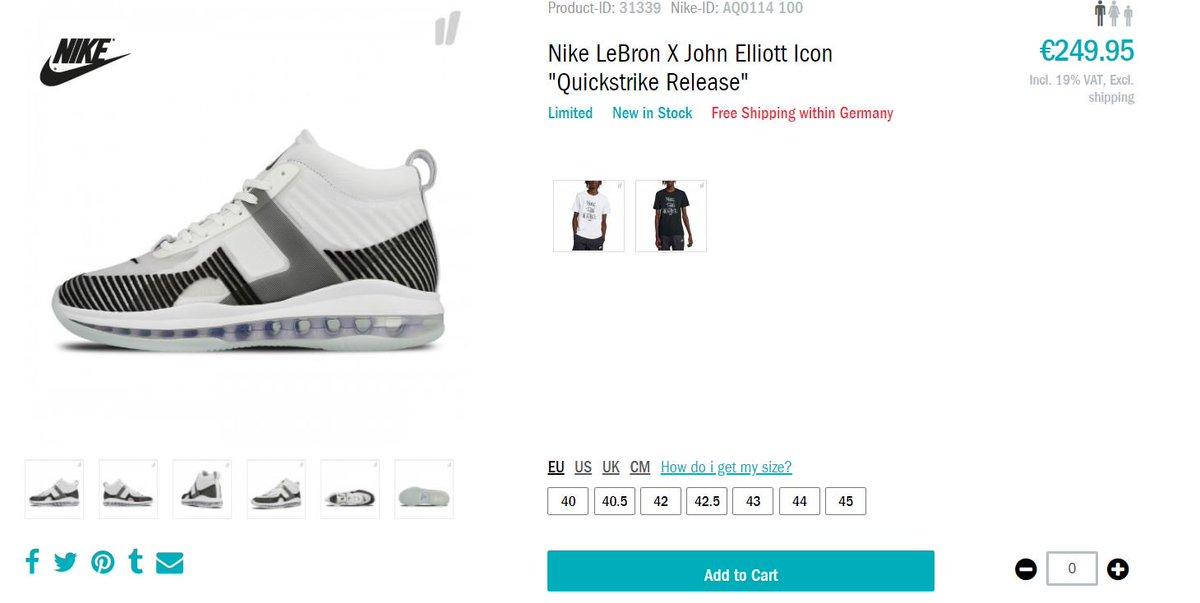 d7601183fd6 John Elliott x Nike LeBron James Icon QS  White Black  FULL SIZE RUN at  Overkill Link   http   bit.ly 2CmU6Wc pic.twitter.com qnSpKr7eT5