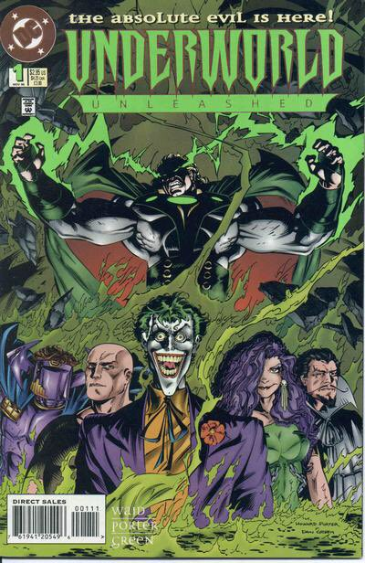 On Sale 23 Years Ago Today... Underworld Unleashed #1 (11/95), purchased at Ravenswood Comics. #UnderworldUnleashed #Neron #Joker #DrPolaris #LexLuthor #Circe #AbraKadabra #DCVillains @MarkWaid @MrHowardPorter @DCComics