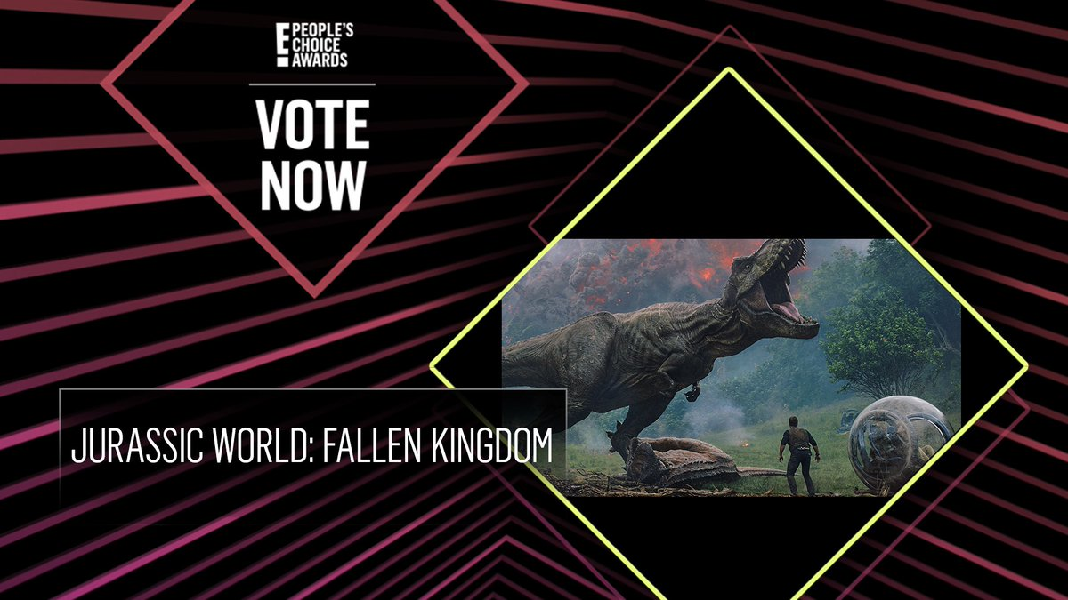 Vote for Jurassic World: Fallen Kingdom by retweeting this post: #FallenKingdom #TheMovie #PCAs