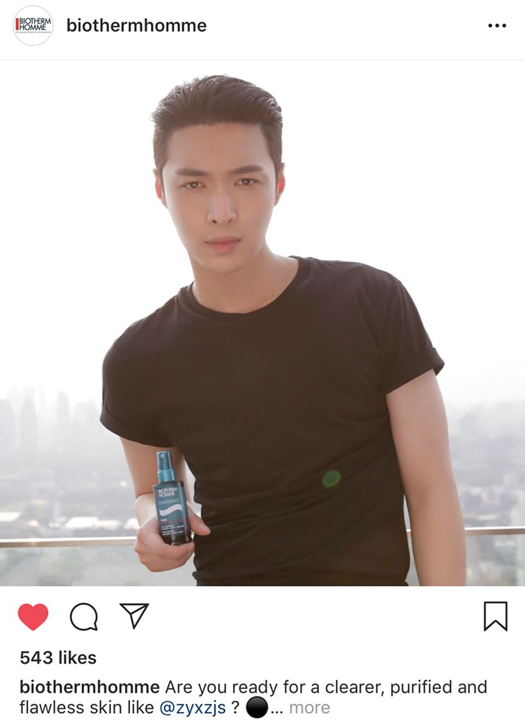 RT EXOLAYMAMA: [!!]180905 BiothermHomme Ig Update ::. Are you ready for a clearer, purified and flawless skin like @LAY_zhang_  ? ⚫️💪🏻 Try T-Pur Micro Peel Refining Serun, your untimate ally in urban environment! #BiothermHomme #TPur #AchieveMore