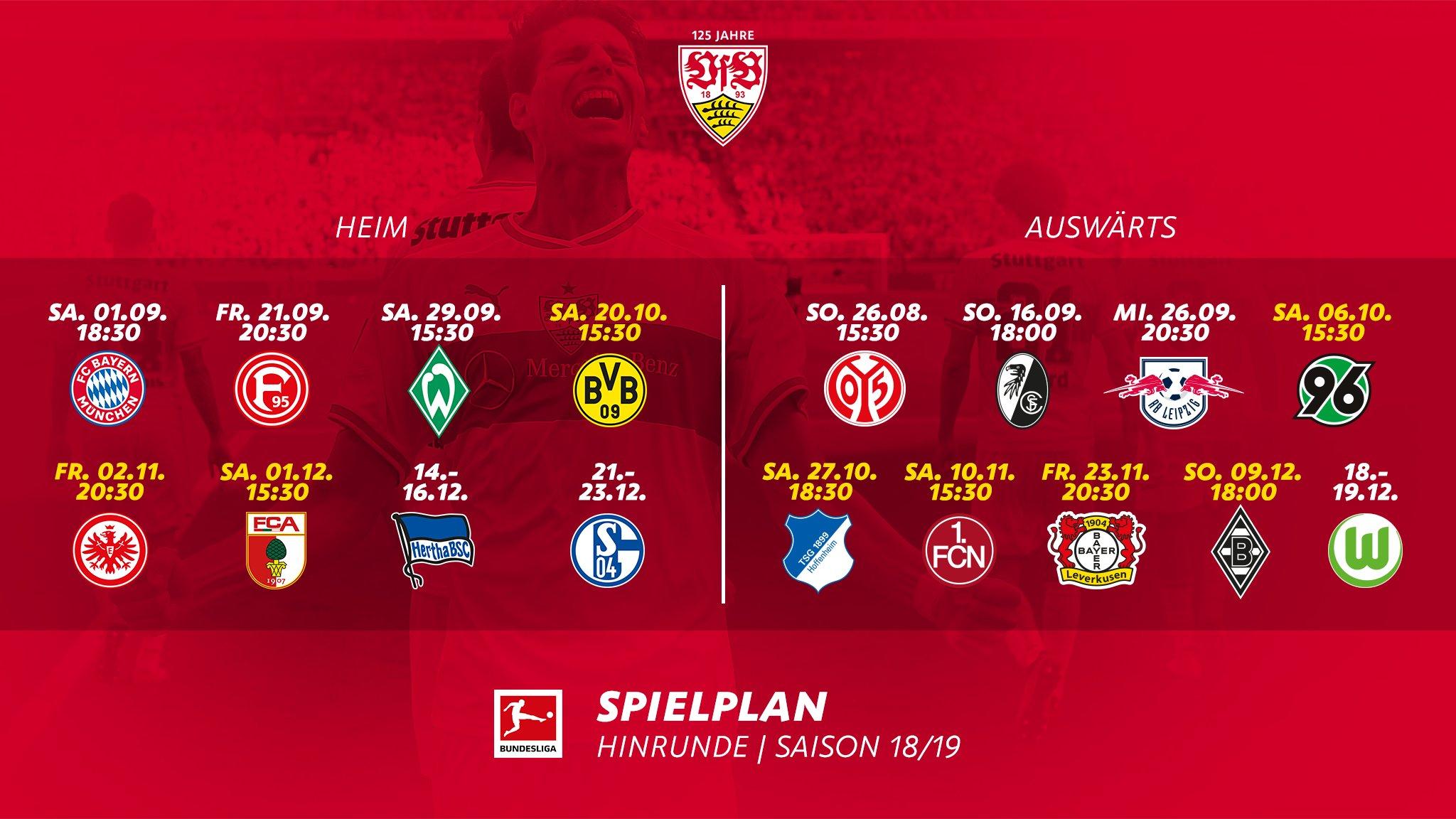 Vfb Stuttgart Spielplan Heimspiele