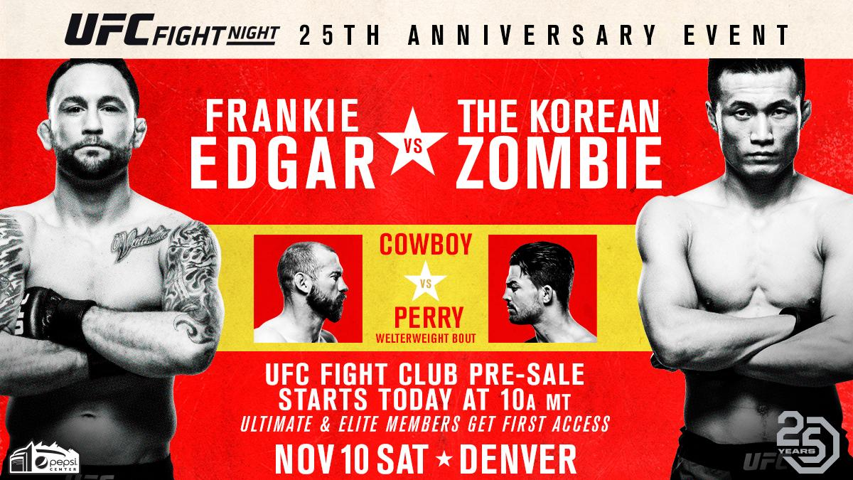 Denver, you ready? #UFCDenver tickets are available for @UFC Fight Club members right ..... NOW!  ➡️ bit.ly/2PAkvS2