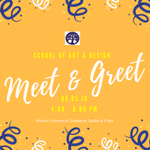 HAPPENING TODAY: School of Art & Design Meet & Greet.  Come out and meet the Art & Design faculty and other students in your major.  Wilson Commerce Sculpture Studio 4:00 - 6:00PM   #HPU365 #MyMajoratHPU