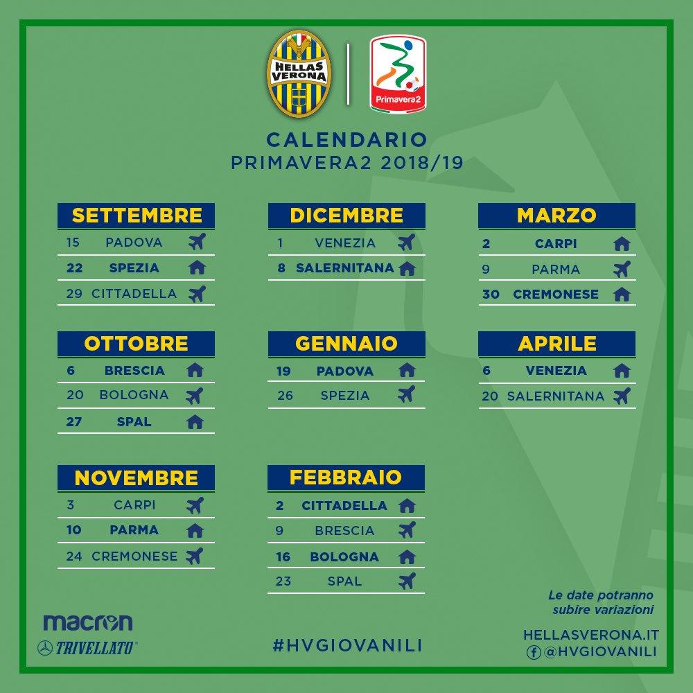 Calendario Verona.Hellas Verona Fc On Twitter Primavera Il Calendario Dell