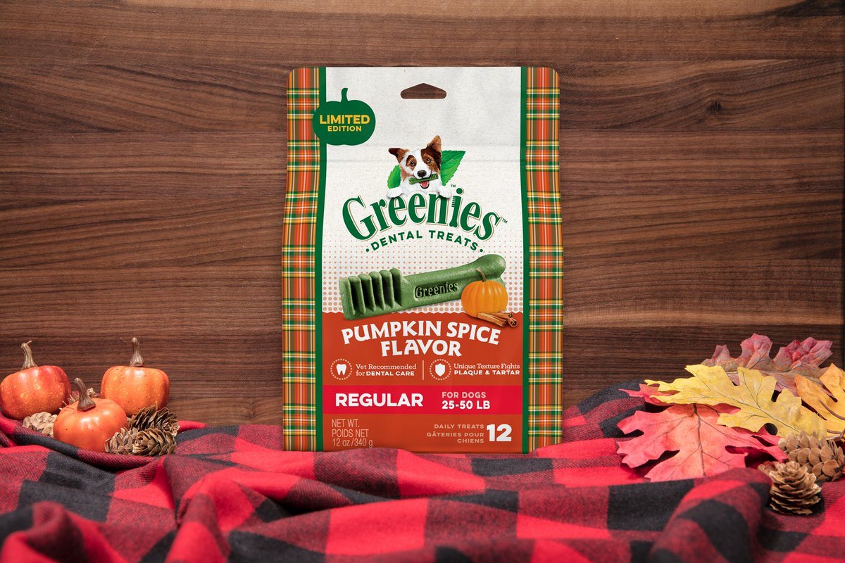 @RommelAquino11 Pumpkin spice season isn't just for humans! 🐶🍂 Treat your pup to the mouth-wowing treat of GREENIES Pumpkin Spice Flavor Dental Treats. We'll even throw in an offer: https://t.co/FQCqKL8Wbo https://t.co/3fnNZaIcZU