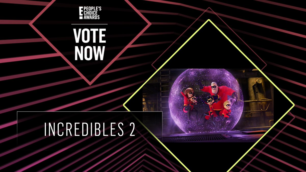 Vote for Incredibles 2 by retweeting this post: #Incredibles2 #TheFamilyMovie #PCAs