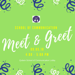 HAPPENING TODAY: School of Communication Meet & Greet.  Come out and meet the Communication faculty and other students in your major.  Qubien School of Communication Lobby, 4:00 - 5:00pm #HPU365 #MyMajoratHPU