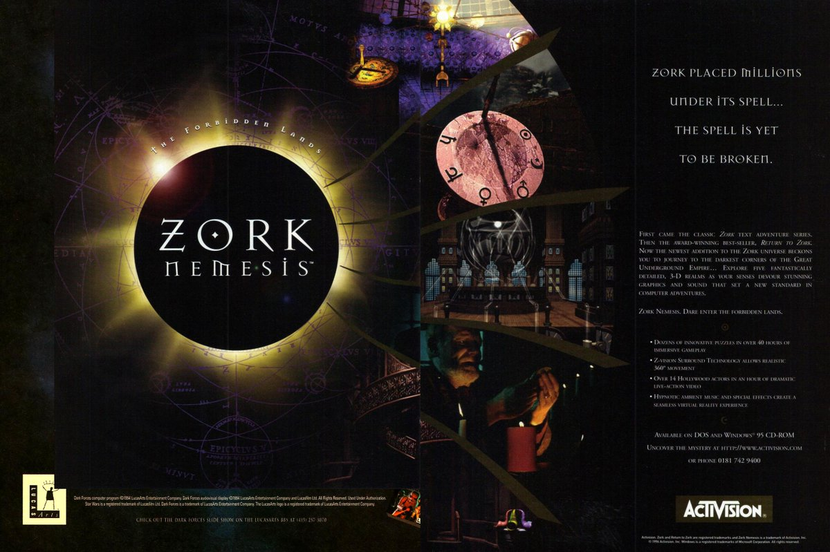 The Dot Eaters On Twitter Zork Nemesis By Zombie Llc And