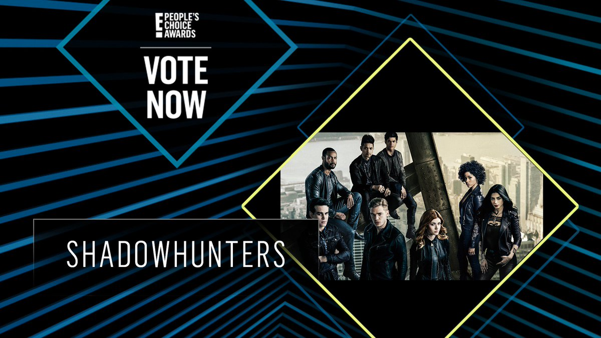 Vote for Shadowhunters by retweeting this post: #ShadowHunters #TheScifiFantasyShow #PCAs