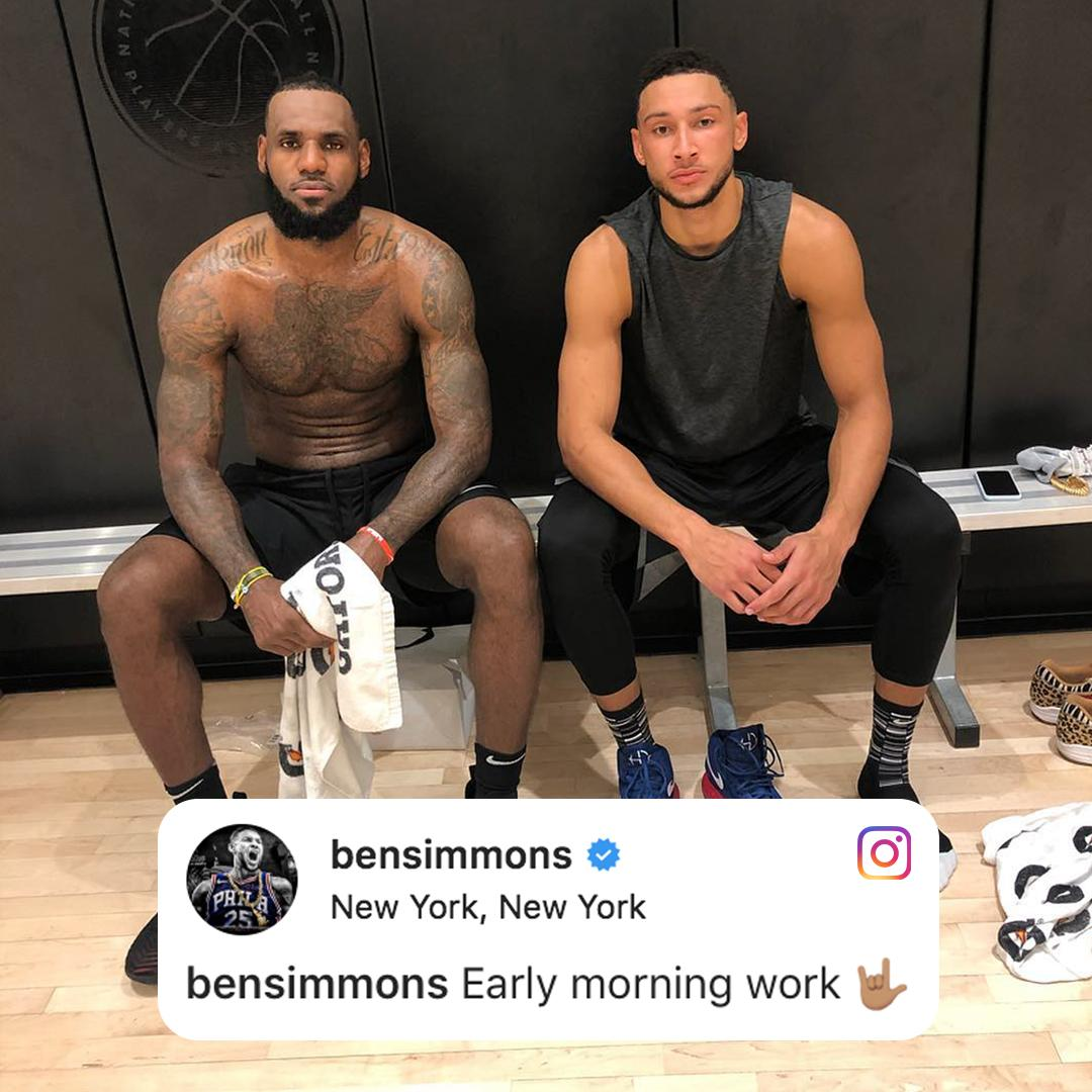 The Fresh Prince working with the King �� (via @BenSimmons25) https://t.co/rmchW2tEDR