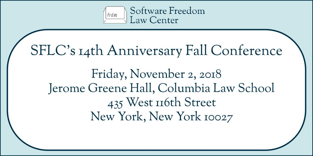 Software Freedom Law Center on...