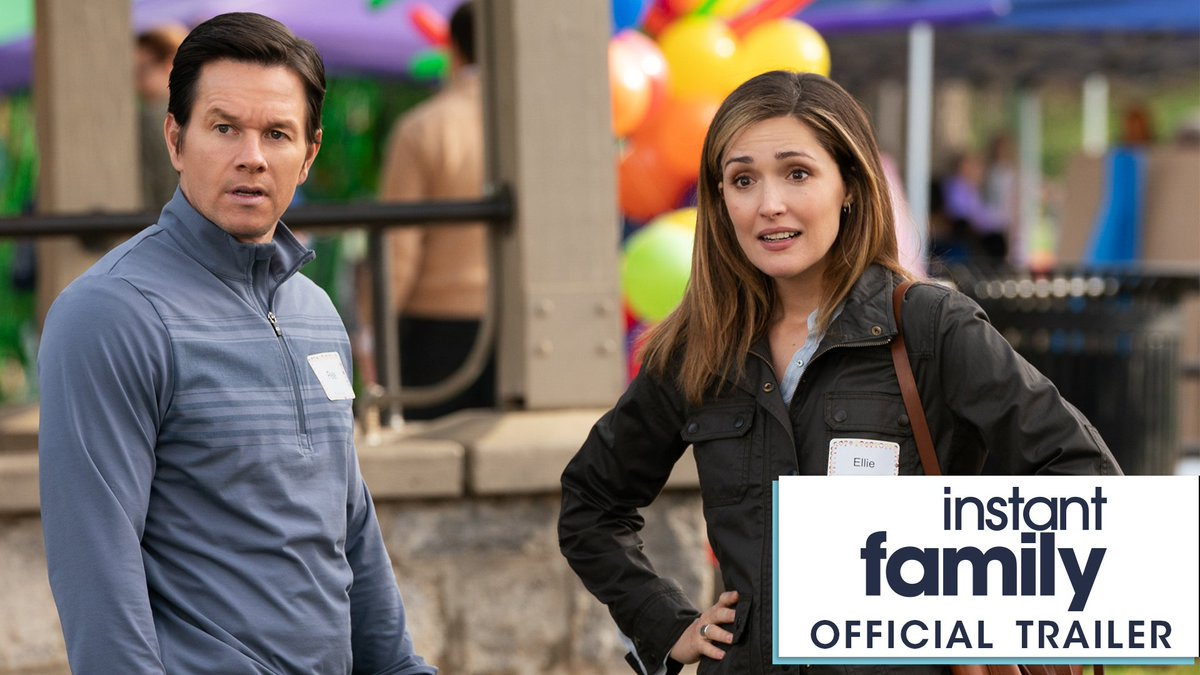 Sometimes all you can do is laugh. Watch the official trailer for the new comedy @InstantFamily, starring Mark Wahlberg and Rose Byrne. In theaters November 16. https://t.co/VJXDYbJS2C
