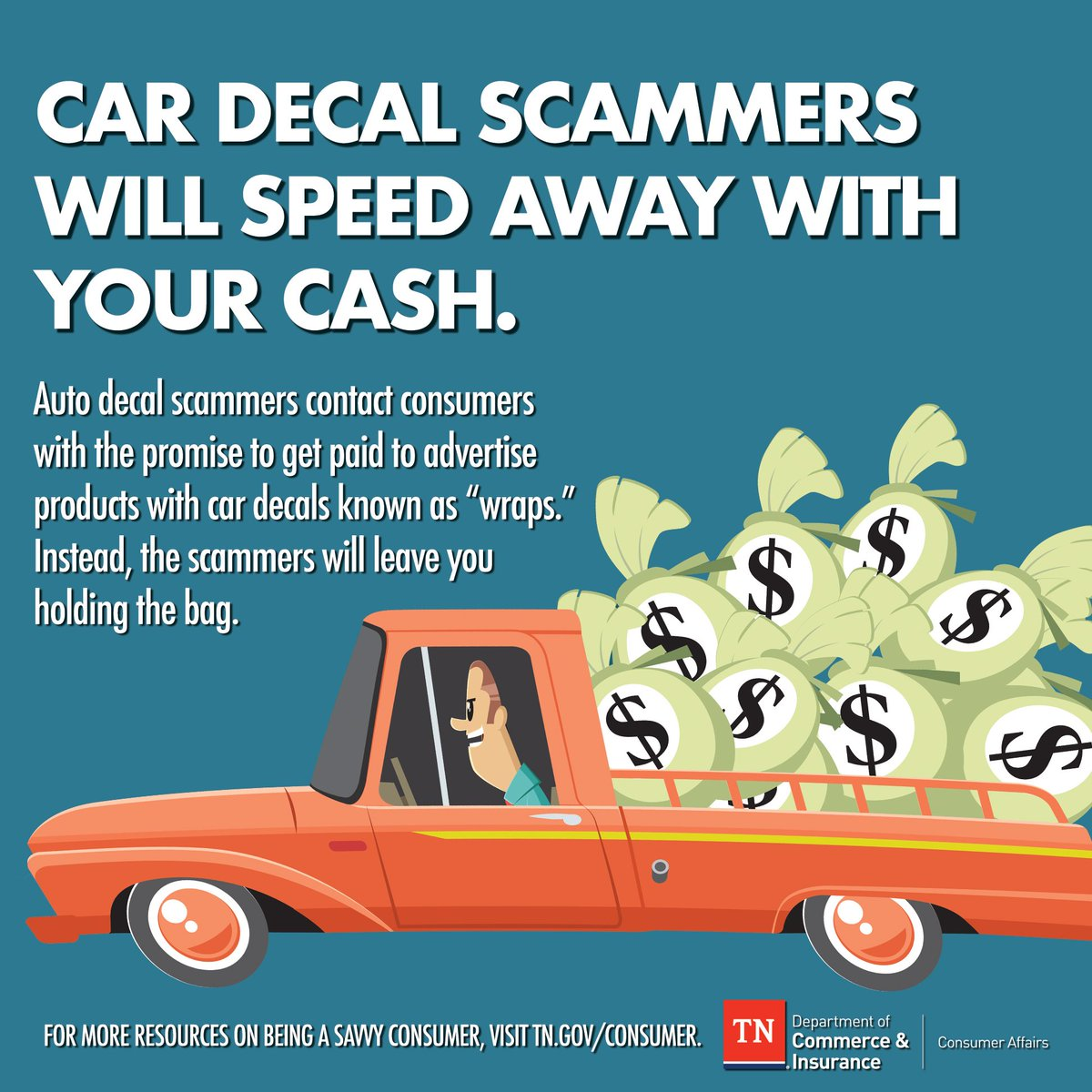 Consumerprotection https www tn gov commerce news 2018 8 23 tdci warns of a new scam trend that promises quick easy money html pic twitter com