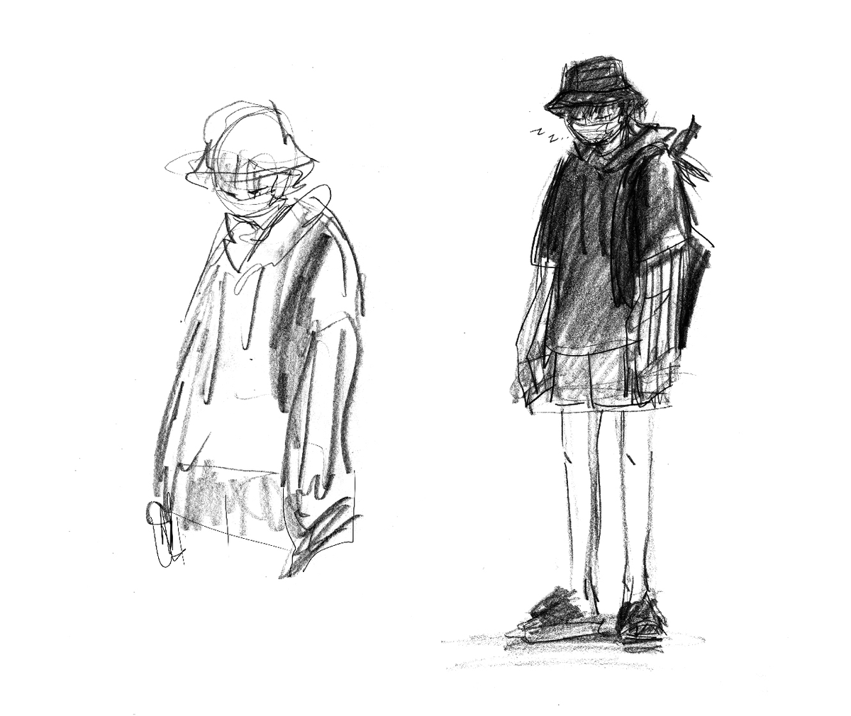 Liadh On Twitter The Absolute Hypocrisy Of Me Drawing This Outfit Yoongi Wore To The Airport But If I Actually Saw A Grown Man Walking Around In A Bucket Hat Hoodie Shorts