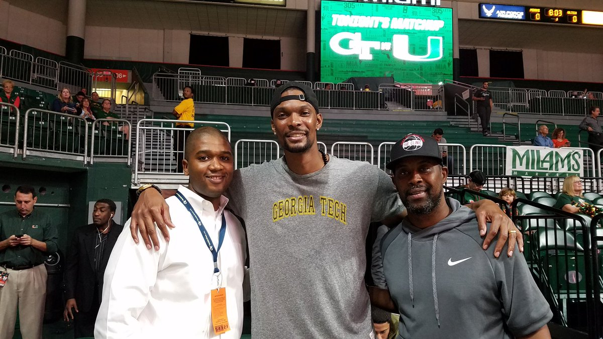 Congratulations to my guy @chrisbosh going into the @GTMBB  HOF good dude!! https://t.co/w5ttRE9Fin