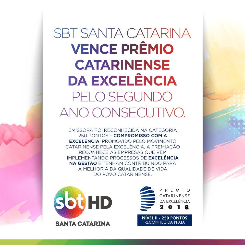 SBT SC conquista Prêmio Catarinense da Excelência pelo segundo ano consecutivo #AcontecendoAqui #sbtsc #sbtsantacatarina #premiocatarinensedaexcelencia #movimentocatarinensepelaexcelencia #comunicação #santacatarina   http://acontecen.do/1h8o