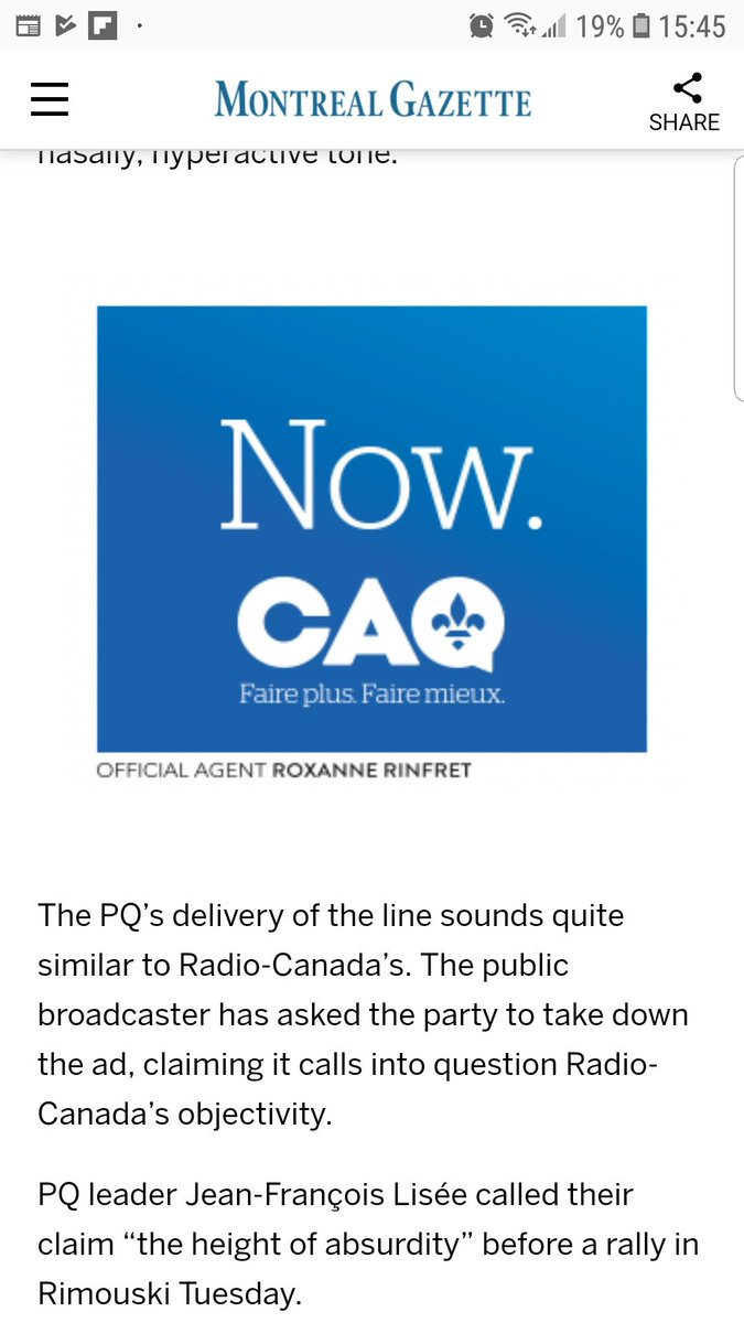 Nora Loreto On Twitter English Ad At The Gaz Reminds Me That Caq Is Still Funny In English