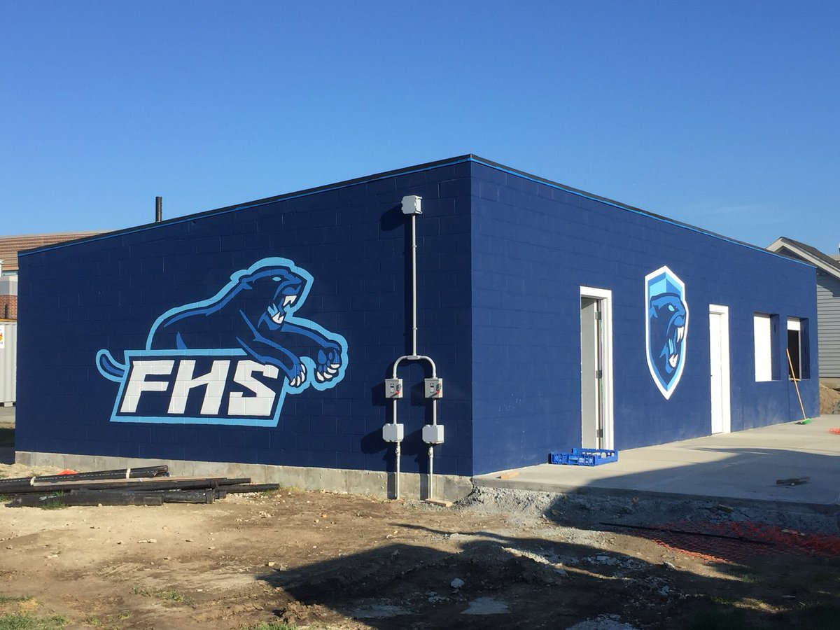 concession stand getting ready for opening game Sep 7 (photo via FranklinAthletics (@FHSSports))