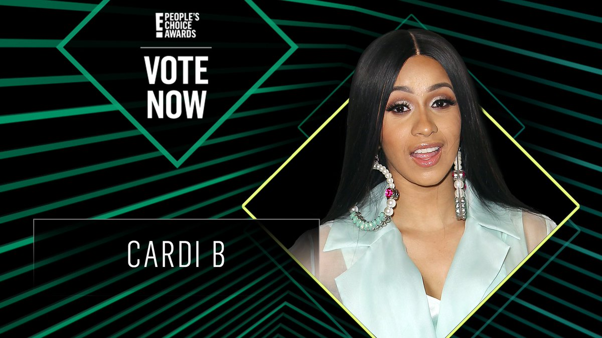 Vote for Cardi B by retweeting this post: #CardiB #TheFemaleArtist #PCAs