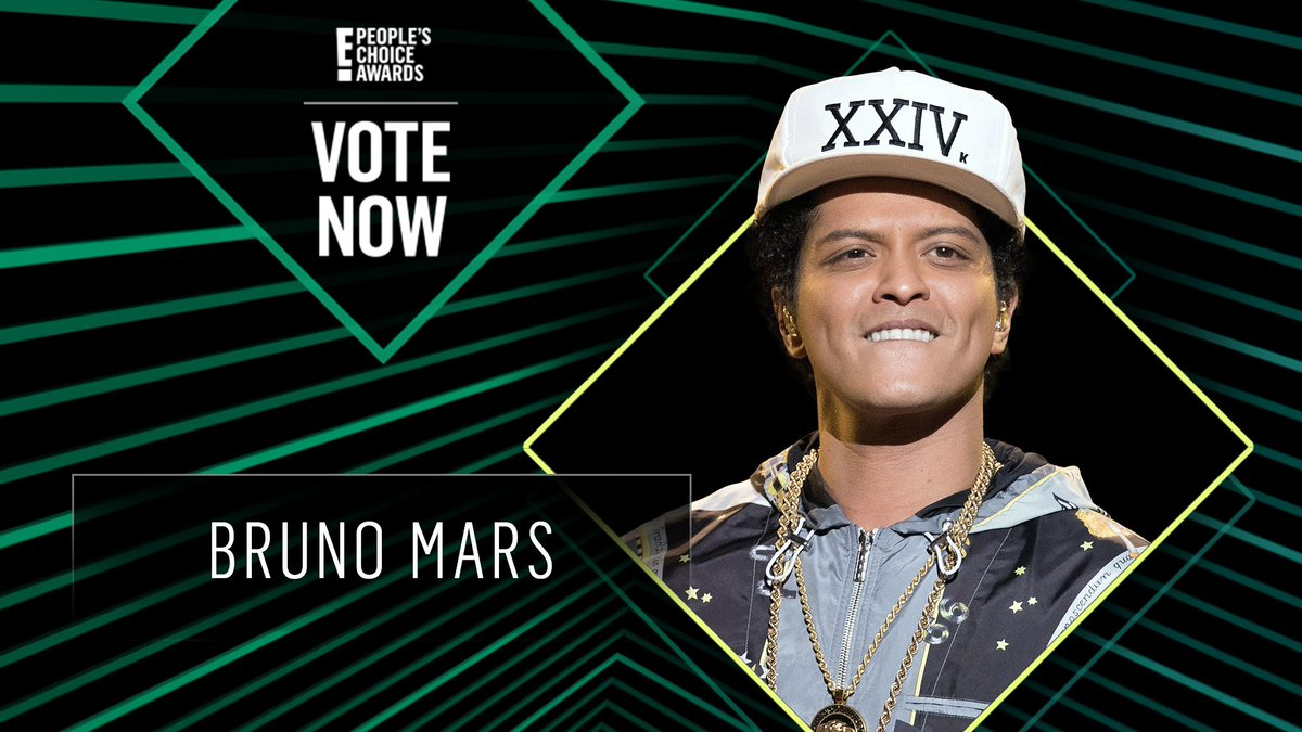 Vote for Bruno Mars by retweeting this post: #BrunoMars #TheMaleArtist #PCAs