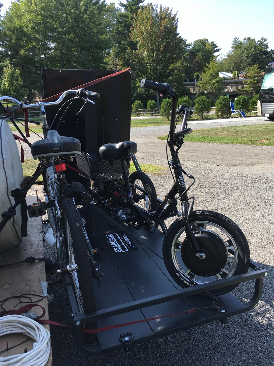 Let S Go Aero On Twitter This Carrier With The Ramp Make It Easy To Transport Our Bike And Trike To Campgrounds On The Back Of Our Rv