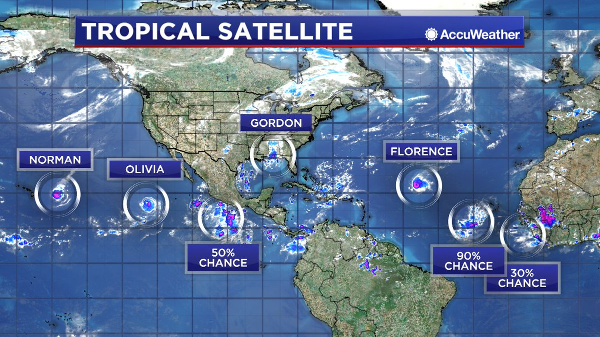 Tim Heller On Twitter Seven Different Tropical Systems On The