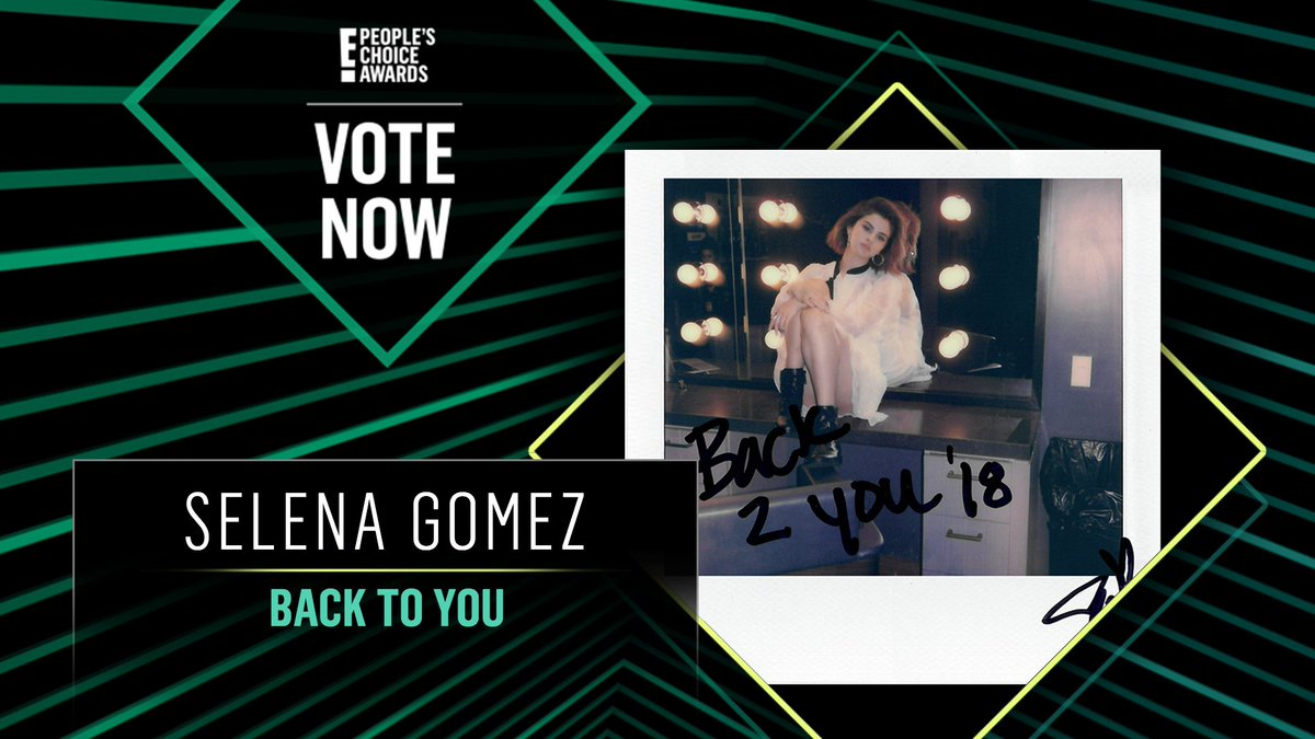 Vote for Selena Gomez's Back To You by retweeting this post: #SelenaGomez #BackToYou #TheSong #PCAs