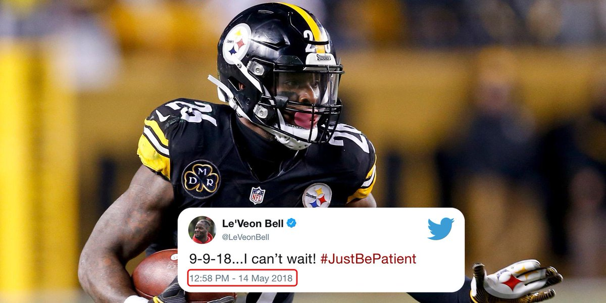 Espn On Twitter Its Been 114 Days Since Leveon Bell Tweeted This