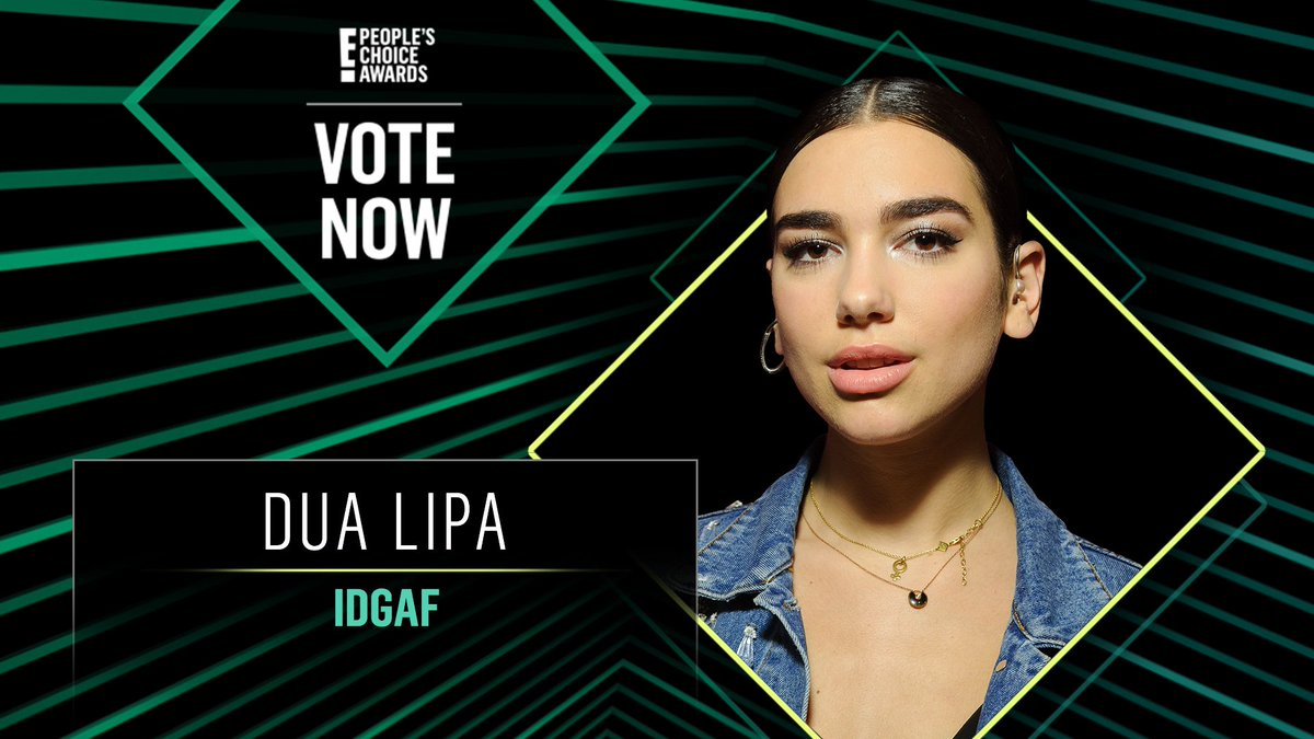 Vote for Dua Lipa's IDGAF by retweeting this post: #DuaLipa #IDGAF #TheMusicVideo #PCAs