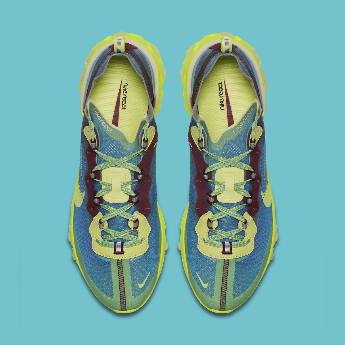 ab0b8ffb5cc8 undercover lab x Nike React Element 87. Lakeside Electric Yellow-Night  Maroon-Black Releasing September 13 for  180. undercoverlab ...