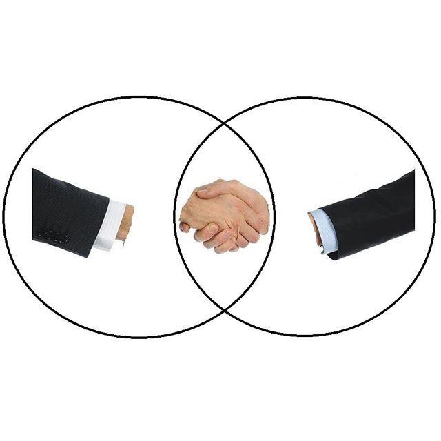 This Handshake Venn Diagram is so literal it hurts. 🤝 🤝 🤝 🤝 🤝 #meme #memes #dankmemes #dank #dankmeme #mememoney #memeeconomics #memeeconomy #memefolio #memeinvestment #comedy #funny #handshake #🤝 #venndiagram