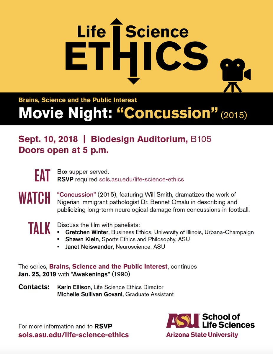 Asu Life Sciences On Twitter We Re Excited To Present Movie Night