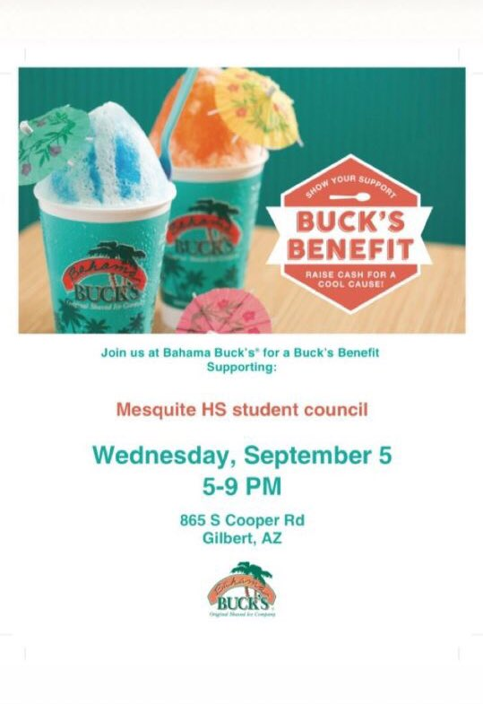 3 Hours Left To Support Mesquite High S Junior Cl At Bahama Bucks All Profits Go Towards Making Prom Awesome This Year Don T Have The Flier