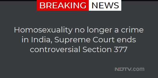 Homosexuality no longer a crime in India, Supreme Court ends controversial Section 377