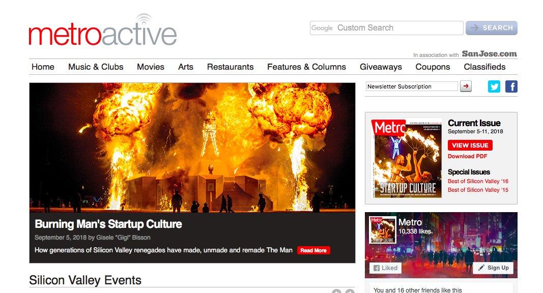 Metroactive giveaways idea