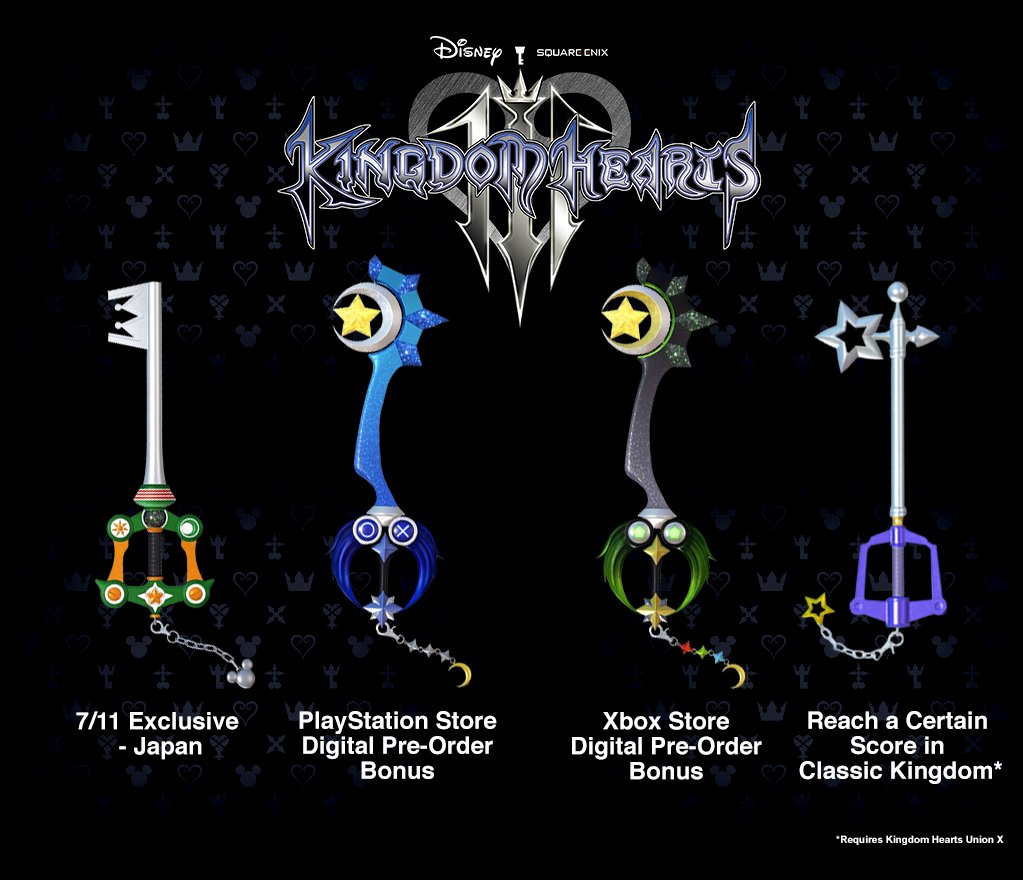 Image result for kingdom hearts 3 7/11 keyblade