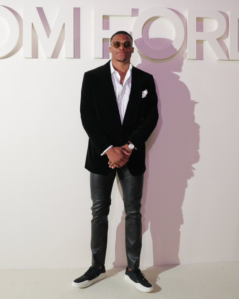 Westbrook attended the Tom Ford runway show for New York Fashion Week