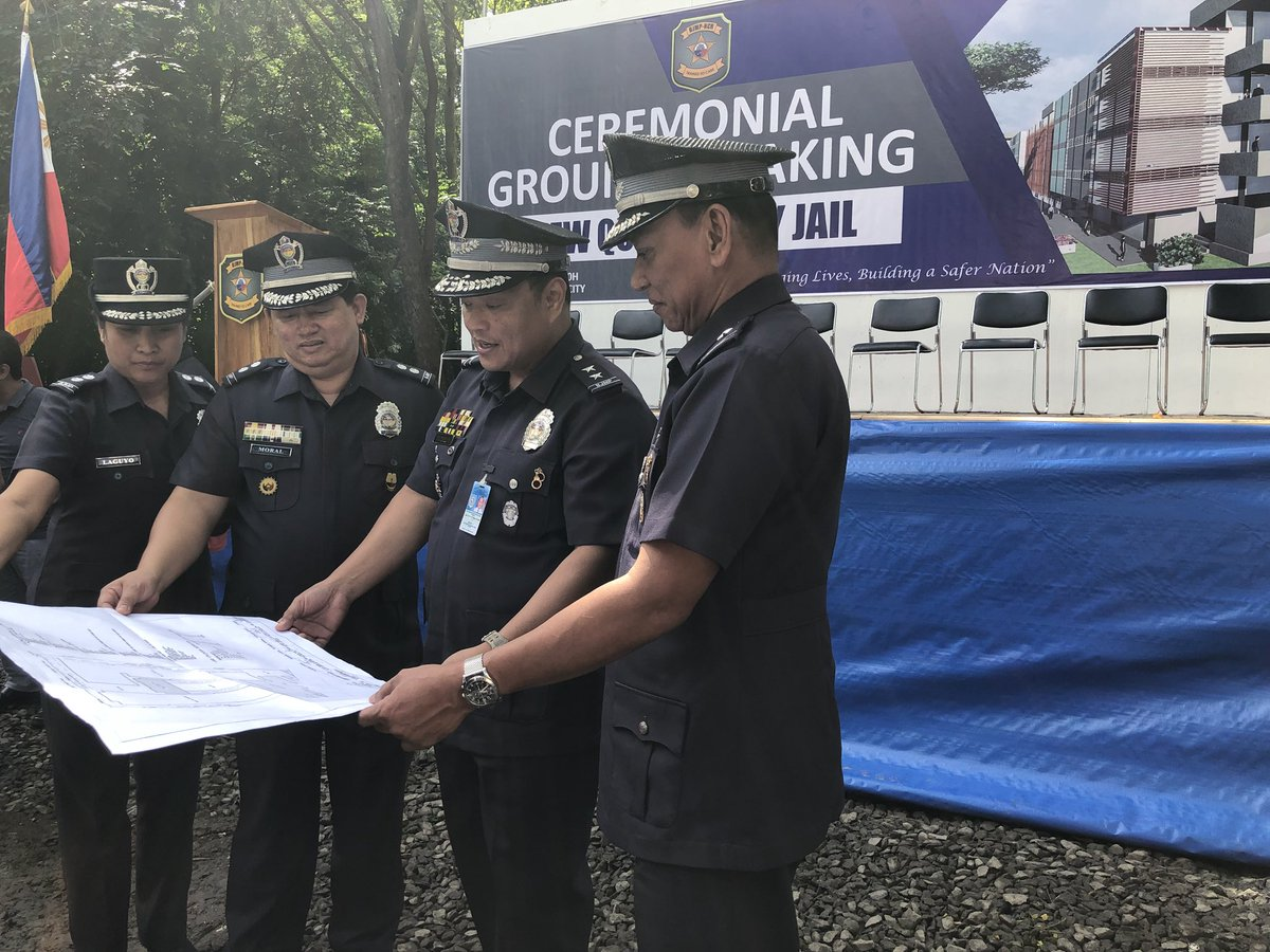 Jhesset enano on twitter watch a capsule containing the blueprint tapayan 3rd from left grace the ceremonial groundbreaking of the new quezon city jail in payatas which could accommodate over 4000 detainees malvernweather Images