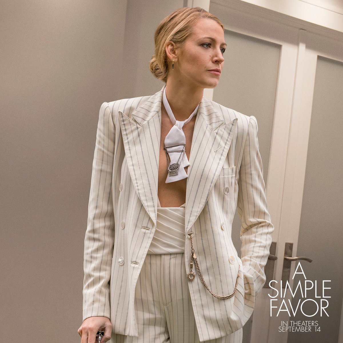 a simple favor on twitter high fashion with a twist blake lively stars in asimplefavor in. Black Bedroom Furniture Sets. Home Design Ideas