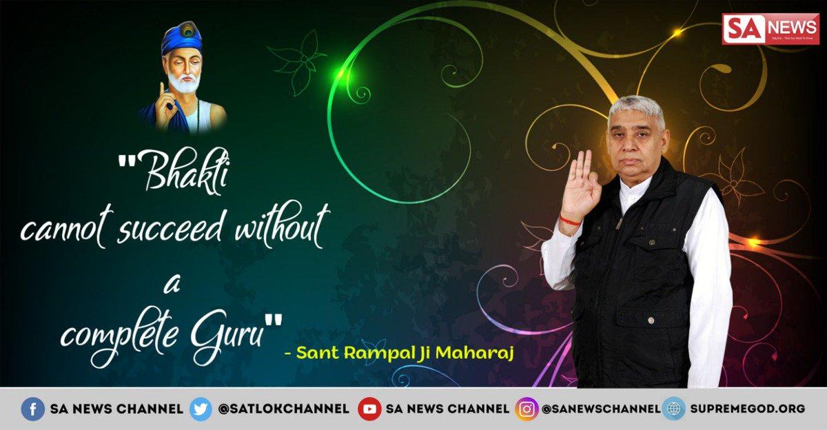 "#ThursdayThoughts Nanak ji says ""Guru sewa bin bhakti na hoyi, anek jatan karae je koyi Guru Granth Sahib P-1342 #SantRampalJiMaharaj is the complete Guru without whom Bhakti cannnot succeed. No one knows the true Bhakti path except him. His knowledge is based on holy books."