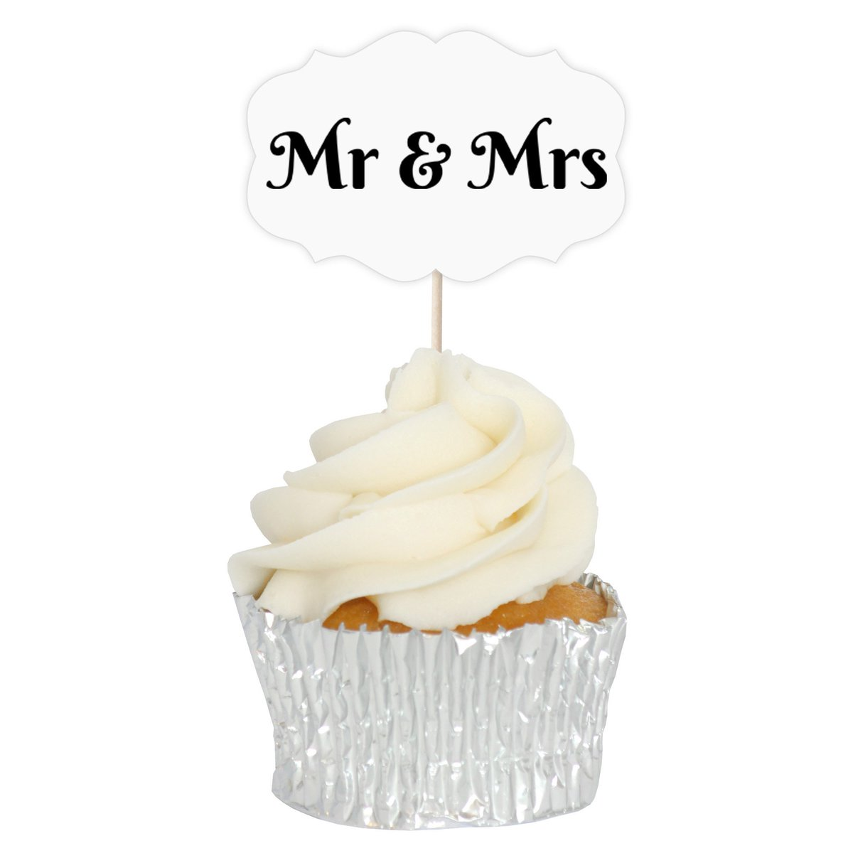 Almond Art On Twitter Mr Mrs Wedding Cupcake Toppers 12pk