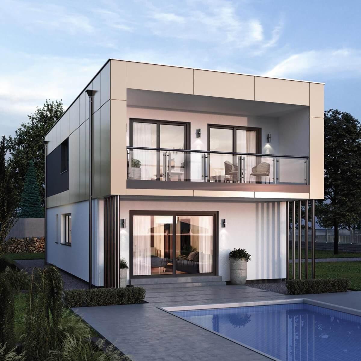 Entzückend Haus Mit Flachdach Beste Wahl Modernes #design # #flachdach Elk 132 -