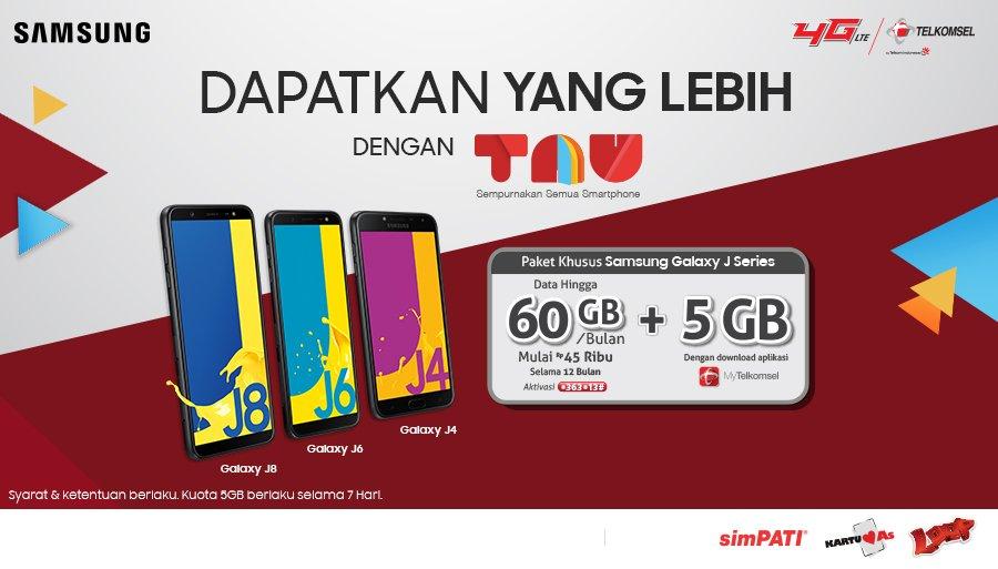 Samsung Galaxy J Series Dengan Kuota 60 GB Hanya Rp45000 Tiap Bulan Ayo Langsung Klik Tselme Galaxyjseries Dan Raih Tambahan 5 Kalau